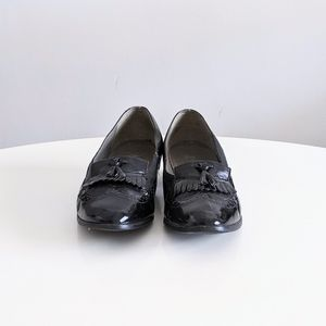1980's Patent Leather Loafers with Fringe …